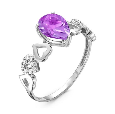Кольцо с аметистом - К620-3787Ам