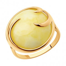 Кольцо с янтарем - 93-310-00840-1