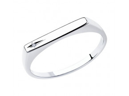 Кольцо с бриллиантом - 87010057